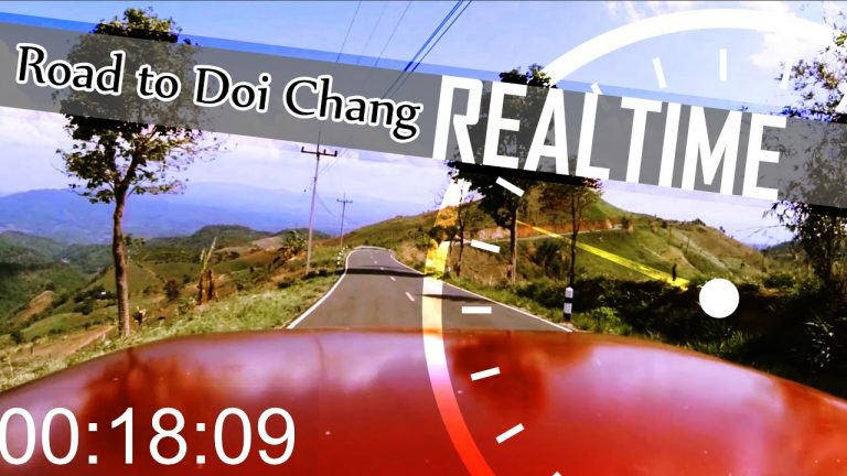 DRIVING IN THAILAND REAL TIME – Mountain Road Drive to Doi Chang, Chiang Rai(ADITL)