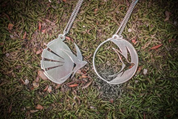 Silver Swallow Andorinha Necklace