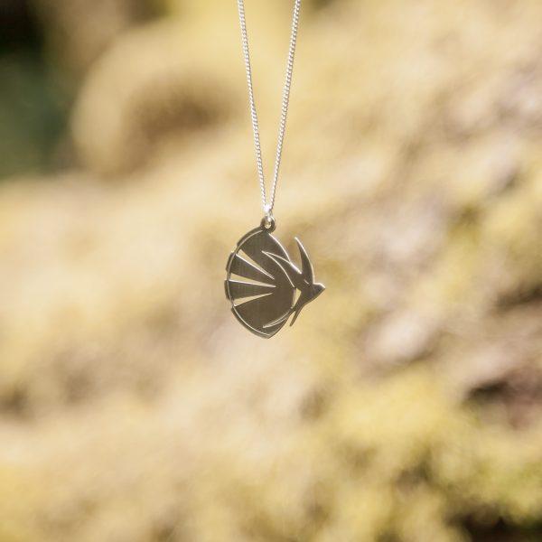 Silver Swallow Andorinha Necklace