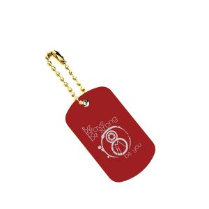 8 miles from home Key Chain Dog Tag