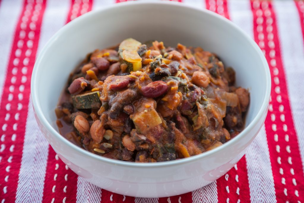 THREE BEAN VEGAN CHILLI