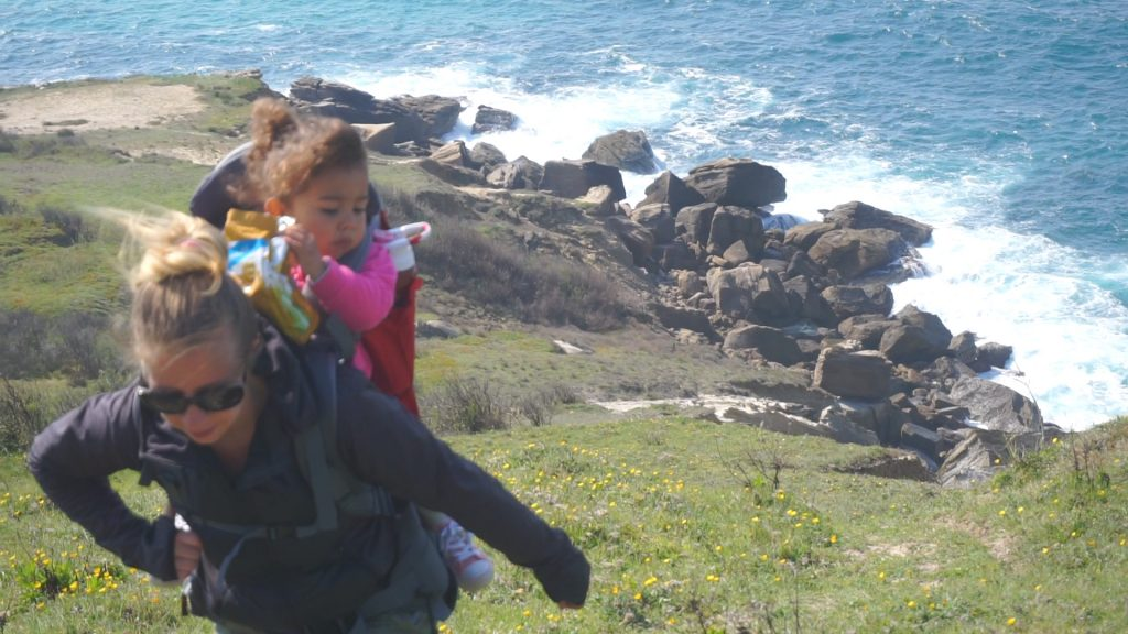 Hiking Silver Coast Portugal With Toddler In The Phil & Teds Escape Baby Carrier