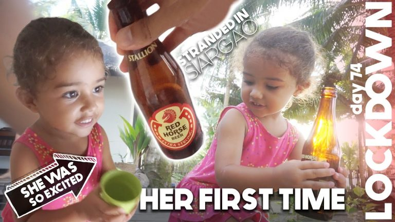 3 Year Old Drinks FILIPINO BEER & LOVES IT (Funny Reaction)