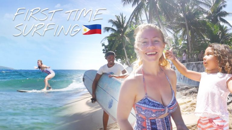 SURFING In PHILIPPINES BRITISH Mum So HAPPY To Do This HERE